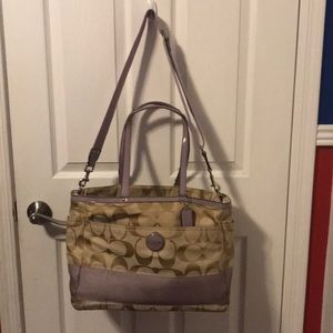 Coach Diaper Bag Lavender - well loved